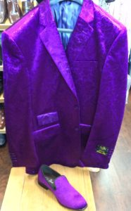 Purple Formal Jacket with matching shoes