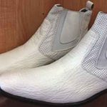 White half-boot sharkskin Men's shoe