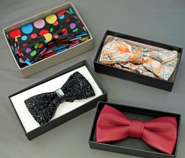 Bow ties for the special occasion at Men In Style