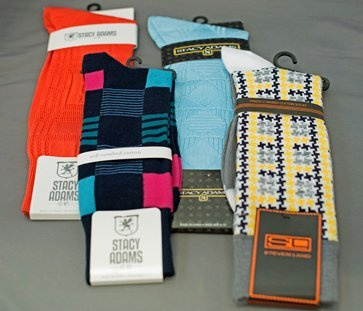 Colorful socks at Men In Style Orlando
