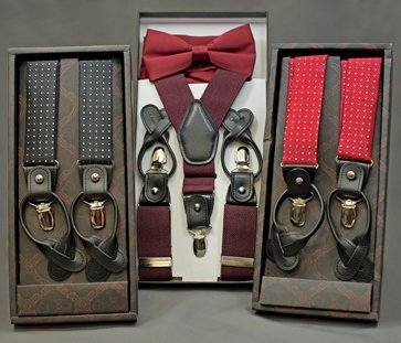 Suspenders are a stylish alternative to a belt