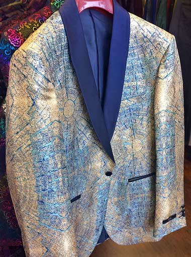 Formal Jacket white and blue