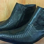 Men's Black half-boot lizard (Teju) exotic leather