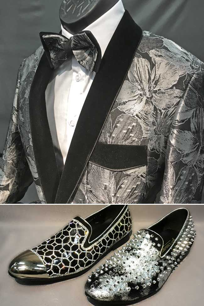 Men's suits and Tuxes and Shoes