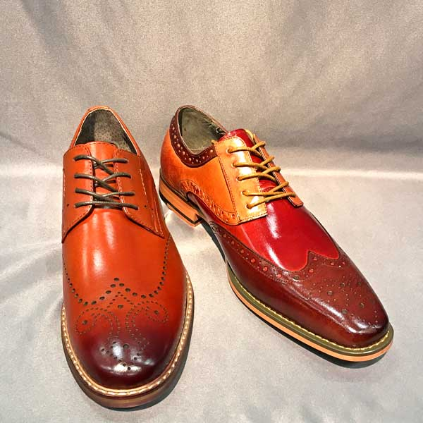Men In Style Orlando Men's Shoes Brown Wingtips