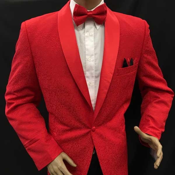 Men In Style Orlando Men's Suits - Red Jacket