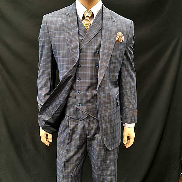 Men In Style Orlando Men's Suits - Gray check